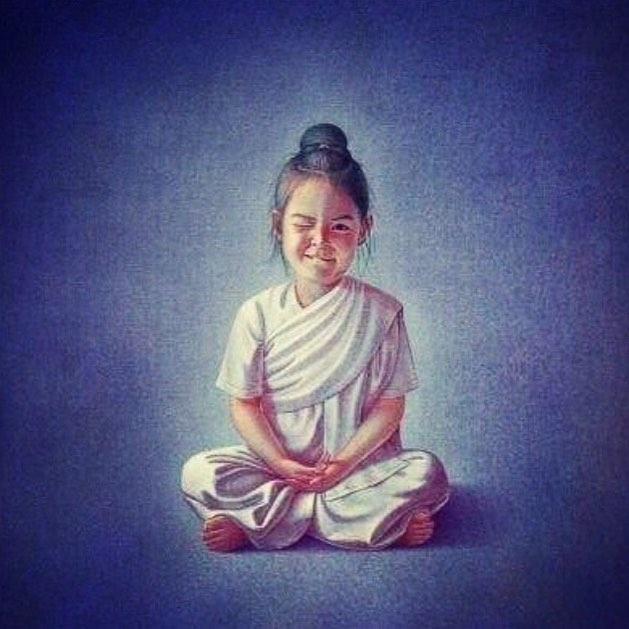 счастье девочка йога медитация
