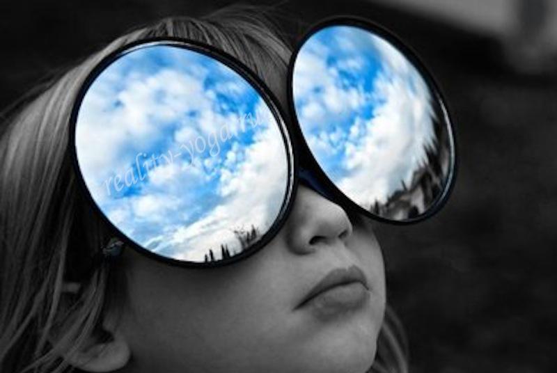 отражение небо очки всё внешнее