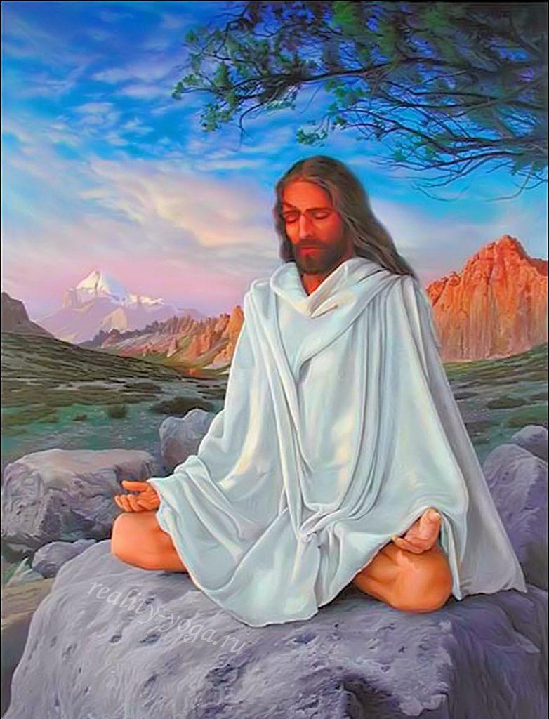 Иисус Христос медитирует