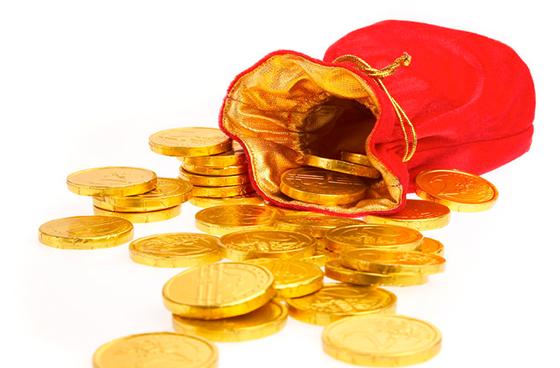 кошелек золото монеты