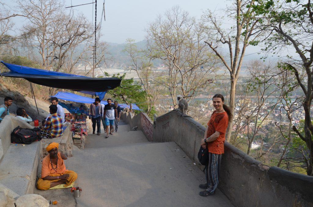 Лестница в Храм манса Деви в Харидваре