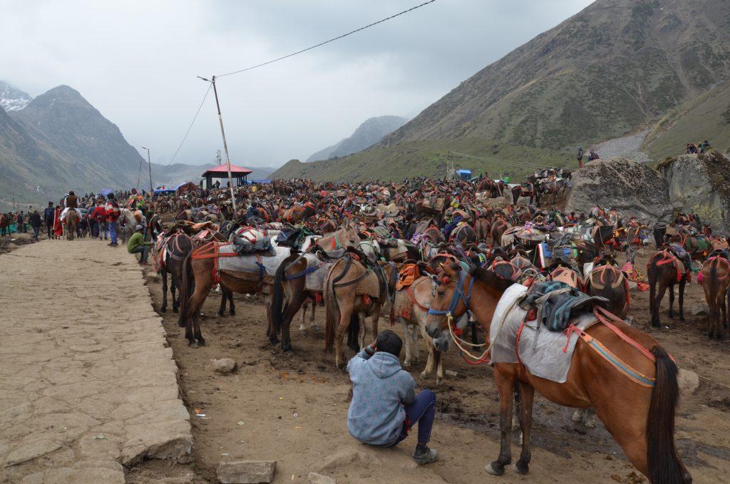 Путь в Кедарнатх стоянка лошадей